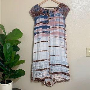 XCVI   tie dye shirt dress